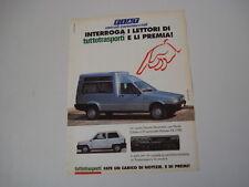 advertising Pubblicità 1993 FIAT FIORINO PANORAMA/PANDA