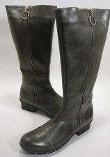 ANTELOPE WOMEN'S 135 KNEE-HIGH ZIP-UP BOOT GREY LEATHER/RUBBER SOLE SIZE 11 MED