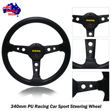 340mm Tuning BLACK Sport Steering Wheel with Horn Button