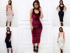 Velvet Stretch Regular Size Dresses for Women