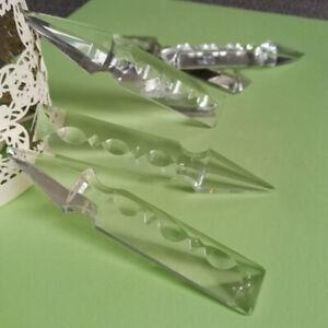 "20Pcs 3.9""/100mm Rocket Crystal Prism Clear Chandelier Suncatcher Wedding Party"