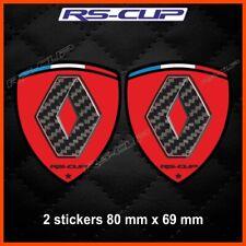RENAULT SPORT red carbon sticker decal aufkleber Clio Megane Twingo Laguna 0052