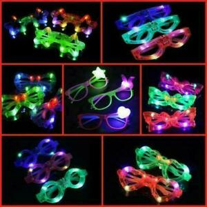 Flashing LED Glasses Neon Party Eye Wear Dance Club Light Up Glow Glasses UK LOT