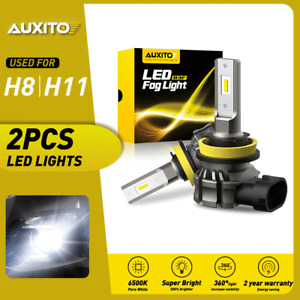 2x AUXITO H8 H11 H16 6500K White LED Fog Light Driving Bulbs CANBUS Error Free