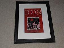 "Framed The Doors 1969 Mini-Poster Rare Cow Palace San Francisco 14""x17"""