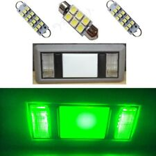 2 Map 1 Dome Green LED Interior lights for 1988-1998 Chevy Silverado/GMC Sierra