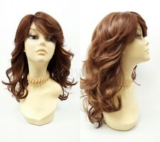 Strawberry Blonde Auburn Long Wavy Wig w/ Bangs Heat Resistant Synthetic 17""