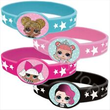 LOL Surprise Silicone Bracelets Girls Birthday Party Bag Fillers Favours - Pk 4