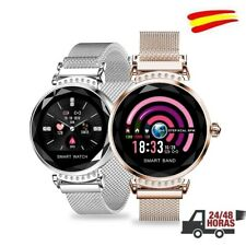 Reloj inteligente Smartwatch elegante para mujeres Rosa Gold.Envio 24h. ESPAÑA