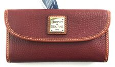 Dooney & Bourke Wine pebbled leather trifold continental wallet, R$138