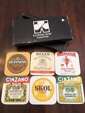 Vintage UK British Bar Coasters Alcohol Cocktails Beefeater Gin Cinzano Guinness