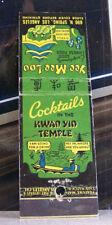 Rare Vintage Matchbook Cover B2 Los Angeles Kwan Yin Temple Yee Mee Loo Where