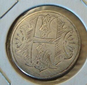 SILVER  LOVE TOKEN - HI - 25 cents Coin Queen Victoria