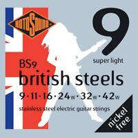 Rotosound BS9 British Steel Stainless Steel Electric strings 9-42