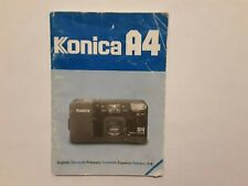 Konica A4 Instruction Manual in Good Used Condition