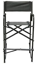 Tall Folding Make Up Artist Directors Chair/Stool, Wide Seat & Padded Armrest