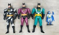 "Vintage 1993/94 Batman Kenner DC Comics 5"" Action Figure lot of & 2.5"" die cast"