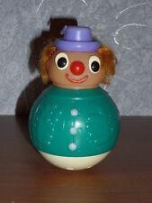 "Vintage 18cm=7"" soviet Russian Nevalyashka Plastic Roly Poly Toy Doll Ussr"