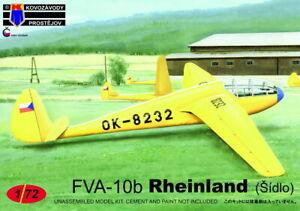 Kovozavody Prostejov 1/72 Modèle Kit 72154 FVA-10b Sidlo Rheinland Planeur