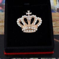 Fashion Jewelry Scarf Men Pins Corsage Rhinestone Brooch Collar Crown