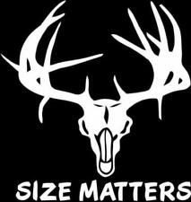 Buck-Size Matters Vinyl Decal-5 Inch (ships in WHITE, other colors available)