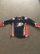 Mens Anaheim Ducks Black Reebok EDGE Authentic Home Jersey Size 46