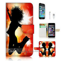( For iPhone 7 Plus ) Wallet Case Cover P0686 Dancing Girl