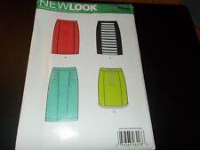 New Look Pattern 6228 Ms Slim Skirt w/Seam Detail in 3 Lengths -Hem Opts Sz 4-16