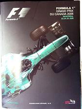 Formula 1 - June 2006 Grand Prix DU Canada Montreal Programme in FRENCH