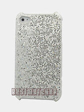 for iphone 4 4s glittery sparkly case hot pink blue silver purple + film/ stylus