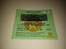 RARE 1993 SMASHING PUMPKINS Concert Ticket / Glasgow Barrowland