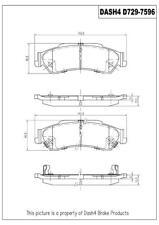 Disc Brake Pad Set-4WD Rear Dash 4 Brake CD729