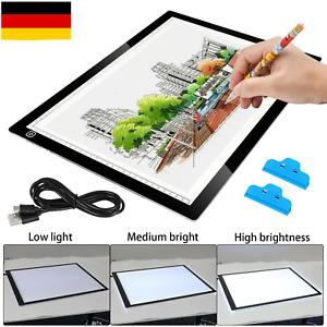 Lichttisch dimmbar LED A3 Leuchttisch Leuchttablett Leuchtplatte Grafiktablett
