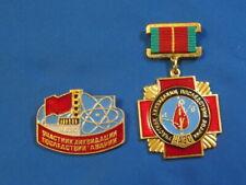 set 2 Russian Soviet Chernobyl LIQUIDATOR medal badge Chernobyl Tsernobyl #2