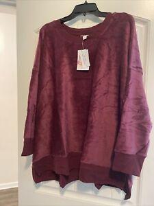 Lularoe 3xl burgundy corduroy NWT Hannah Sweatshirt