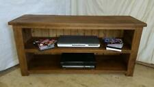Real Solid Wooden Entertainment Unit tv stand Chunky Rustic Plank Pine Furniture