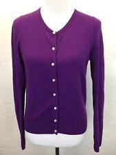 C44 Club Monaco Sz M 100% Italian Cashmere Purple Cardigan Sweater