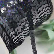 5Yards Black Color Sequin Stretch Ribbon Trim Craft Sewing Trimming