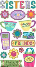 EK SUCCESS STICKO STICKERS - BEST FRIENDS FAMILY SIBLING SISTER  - SISTERLY LOVE