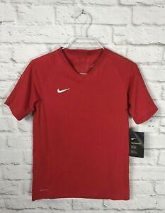 NEW Nike Vaporknit Youth Red Short Sleeve Soccer Shirt Size Medium