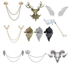 Badge Fashion Angel Jewelry Multiple Layer Pin Brooch Suit Accessories Men Lapel