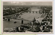 RARE 1941 RPPC~ FRANKFURT~ MAIN VIEW from CATHEDRAL~ BRIDGES BEFORE WWII BOMBING