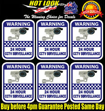 6 PACK Warning Security camera home Office surveillance Sign Sticker 7 Year