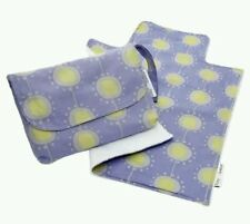 NEW Ruby and GINGER NEW MINI CHANGING BAG (Nappy Purse & Mat) - Funky Flowers