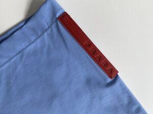 Vintage Men's Prada Sport Baby Blue Shorts Classics Unused