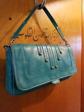 Rachel Nasvik collection turquoise green Leather Shoulder bag /  Handbag purse