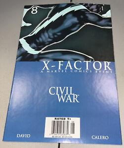 X-Factor #8 Marvel Quicksilver Civil War Newsstand Variant