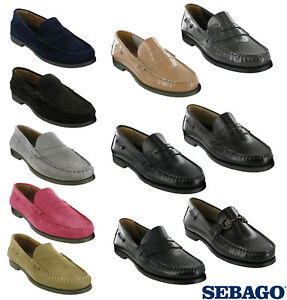 Sebago Plaza Womens Casual Low Slip On Leather Suede Loafer Flat Shoes UK2.5-9.5