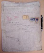 Stamp 1941 India MAYO-AJMER Postmark Mailbag Postal History Customs Declaration