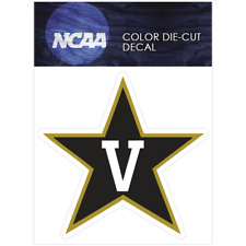 Vanderbilt Commodores Primary Logo Logo NCAA Die Cut Vinyl Car Decal Bumper